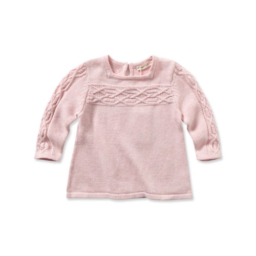 876c4d97f DB1148 davebella baby girl knitted dress manufacturers