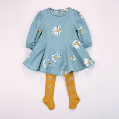 DB2032 davebella baby girl dress for spring