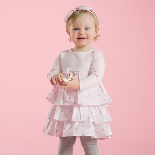 DB2108 davebella baby girl  dress