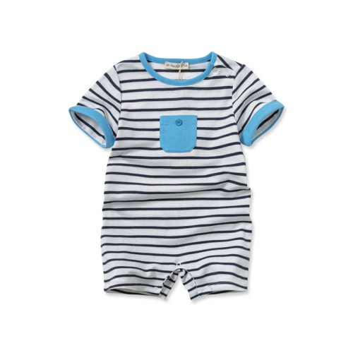 DB1880 davebella baby girl striped romper