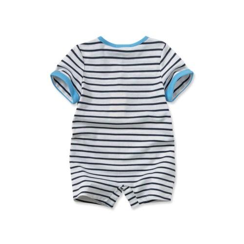 DB1880 davebella baby girl striped romper