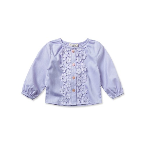 DB1695 davebella baby girl o-neck shirts