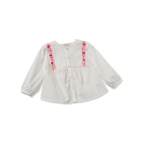 DB1777 davebella baby girl single-breasted shirts