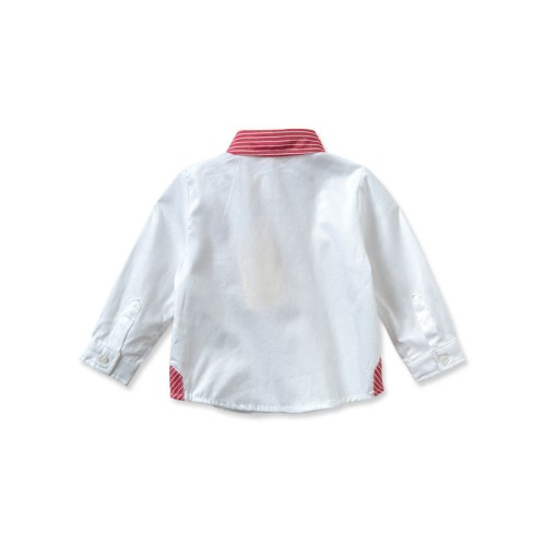 DB1937 davebella baby long-sleeved white shirts