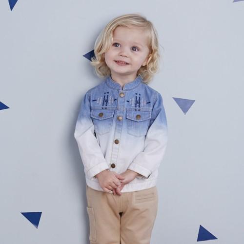 DB2151 davebella baby single-breasted jean coats
