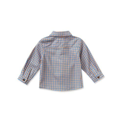 DB2152 davebella baby grid single-breasted shirts