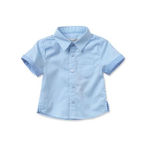 DB2154 davebella baby single-breasted shirts
