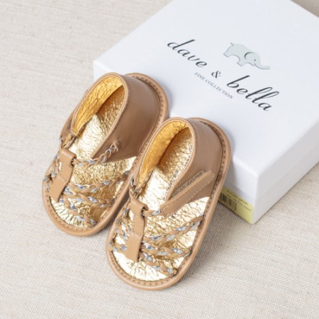 DB2609 davebella baby sandal with magic tape