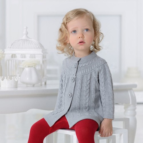 9cbba0259 DB1170 davebella baby girl knitted sweater manufacturers