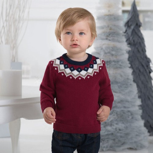 7d0c3264d DB1220 davebella baby knitted sweater manufacturers