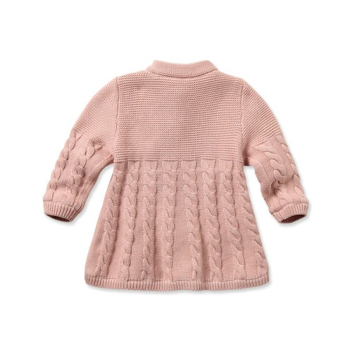 868bf10d5 DB797 davebella baby girl winter knitted sweater manufacturers