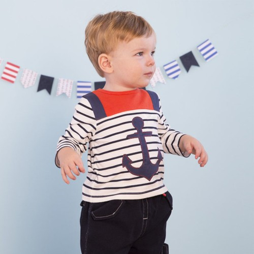 DB1875 davebella baby  long-sleeved T-shirt