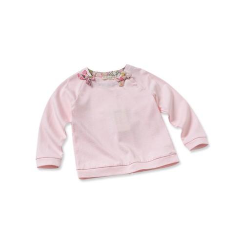 DB2640 davebella baby girl printed T-shirts